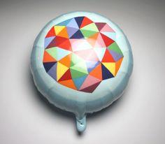 Ceramic balloon by Nina Jun