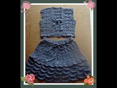 Жакет-болеро для девочки вязаный крючком. Часть 1.Bolero jacket for girls crocheted. Part 1. - YouTube