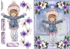 Beautiful Winter Girl on Craftsuprint - View Now!