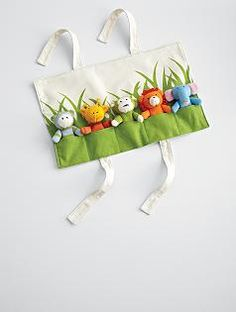 Finger puppets and a great way to store them.