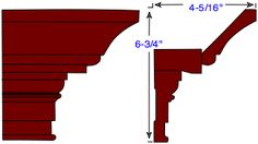 Crown moulding design ideas | Do-It-Yourself-Help.com [This website includes diagrams for 5 types of crown molding: traditional crown, narrow crown, victorian style, elaborate, and cornice.]