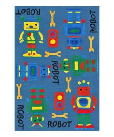 Another great find on #zulily! Blue Robot Chica Rug by Loloi Rugs #zulilyfinds