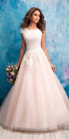 95043d30f94f 30 graziosi abiti da sposa modesti per ispirare Abiti Da Sposa Rosa