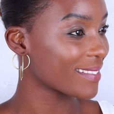 Description Details Modern and minimalist, this earring's organic shape create an eye-catching jacket earring. Wear for a luxe, ultra-cool addition to your everyday style. Handcrafted in recycled brass. Recycled brass is cast, polished and handcrafted by Kenyan artisans using heritage techniques. Made of cast brass Handcrafted in Kenya  Product Care Guide