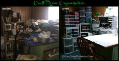 Craft Room Organization with Silver Lining Organizers