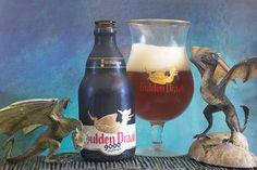 "Gulden Draak 9000 Quadruple (brouwerij Van Steenberge - Belgique) - via ""Une petite mousse"" - Les dragons Rhaegal et Drogon (The Game of Thrones)"