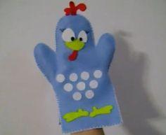 Como fazer o fantoche da Galinha Pintadinha - http://www.comofazerascoisas.com.br/como-fazer-o-fantoche-da-galinha-pintadinha.html