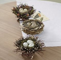 Set of 3 Birds' Nests: Realistically crafted with natural twigs, dried florals and leaves.Set of 3 Birds Nests from Through the Country Door® Make lg twig one.Discover thousands of images about Bird CagesFrom Christmas to Halloween and everything in Twig Crafts, Diy And Crafts, Nature Crafts, Easter Wreaths, Christmas Wreaths, Oster Dekor, Seasonal Decor, Holiday Decor, Christmas Decor