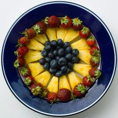 Fruit Project - Fruit works of art - Pictures - CBS News Whole Wheat Pita, Healthy Preschool Snacks, Delicious Fruit, Breakfast Bowls, Fruit Salad, Art Pictures, Acai Bowl, Peanut Butter, Raspberry