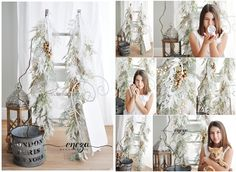 Christmas garlands for photo session, winter garlands