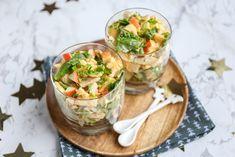 Shrimp Recipes For Dinner, Shrimp Recipes Easy, Salad Recipes, Healthy Recipes, Healthy Fruit Cake, Special Recipes, High Tea, Tasty Dishes, No Cook Meals
