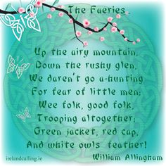 Click here to read the full poem, The Faeries