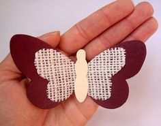 Wineberry Paper & Burlap Butterflies/Purple Butterflies/Purple Butterfly Art/3D Paper Butterflies/Berry Red Nursery/Paper Wall Art/Set of 3