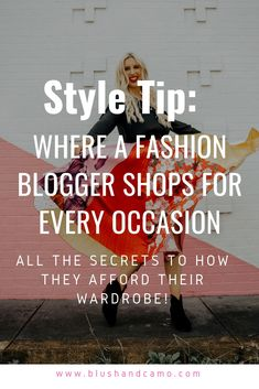 Where fashion bloggers shop, budget friendly style tips, style on a budget, fashion blogger shops, outfit on a budget