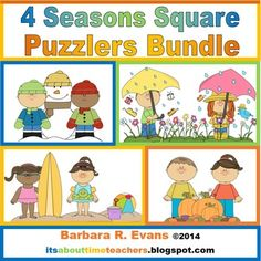 Get a year's worth of square puzzlers in this money saving bundle.  Includes FALL, WINTER, SPRING, & SUMMER.  $