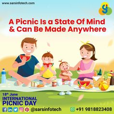Picnic is a stage where we can forget all our day to day worries and official chores.  Happy International Picnic Day!  #internationalpicnicday #picnicday #picnictime #picnic #nature #sunny #picnicinthepark #summerpicnic #happymoments #lunchwithfriends #birthdaypicnic #summertime #friends #goodtimes #smile #family #fun #goodfriends #special #beautiful #refreshing #perfect #awesome #lovenature Picnic Time, Summer Picnic, Picnic In The Park, Best Web Design, Web Design Company, Happy Moments, Good Times, Online Business, Digital Marketing