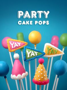 Party Cake Pops by Bakerella, via Flickr