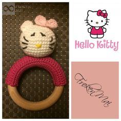 Helllo kitty Hæklet Rangle Crochet Rattle HelloKitty
