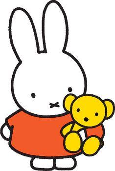Dit is nijntje vereenvoudigd, want volgensmij was het niet heel erg moeilijk om dit konijntje zo te tekenen