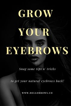 Learn from the best. Here we can show you the different ways you can regrow your eyebrows! Natural Eyebrows, Thick Eyebrows, Natural Skin Care, Eyebrow Growth, How To Grow Eyebrows, Fun Learning, Your Hair, Hair Makeup, How To Get