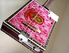 Country Girl Guitar Cigar Box Guitar No. 42 - Acoustic & Electric. $240.00, via Etsy.