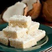 Coconut Sugar Cookie Squares
