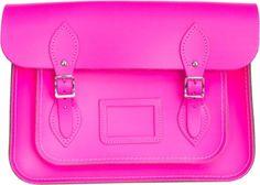 LOVE this bright pink bag. *drools*