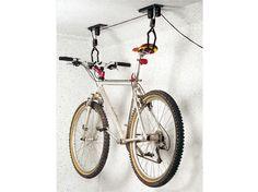 EUFAB Deckenlift für Fahrräder - für alle Fahrräder, Max. Belastung: ca. 20 kg, Max. Hubhöhe: ca. 4 m