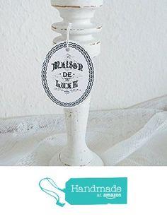 Romantischer Kerzenständer Holz Shabby Chic von der Dragonflys Home https://www.amazon.de/dp/B01N0TG9Q7/ref=hnd_sw_r_pi_dp_cImzyb6AWREEC #handmadeatamazon