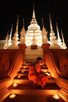 Monje budista, Tailândia www.calcathai.com