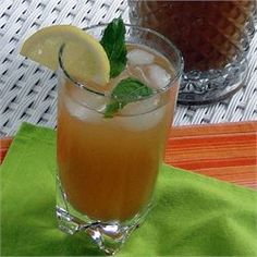 Mint Tea Punch - Allrecipes.com have to try for morning tea