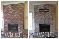 LivieJane.com /// How To White Wash Brick. I want to whitewash brick on exterior