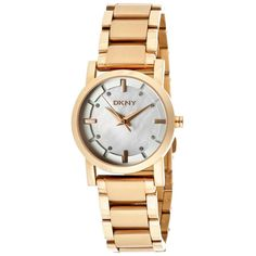 Mother of Pearl Dial Rose Gold-tone Casual Ladies Watch