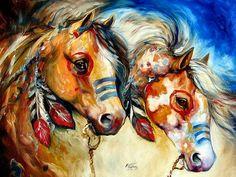 Native American Animal Spirit Guides Warrior spirits two - horses