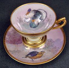 Lovely Antique Lamm Dresden Demitasse Cup & Saucer