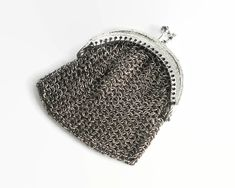 Your place to buy and sell all things handmade Silver Metal, Vintage Silver, Chain Mail, Stainless Steel Chain, Coins, Coin Purse, Mesh, Handbags, Purses
