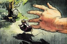 David Hall's Alice in Wonderland storyboards. From Michael Sporn's Animation Splog.
