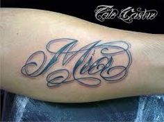 Image result for Mia name tattoo