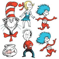 Eureka - Large Dr Seuss Characters Deco Kit on sale now! Find all of your classroom supplies at huge discounts at DK Classsroom Outlet.