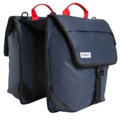 On your bike rack, they're a pair of weatherproof saddlebags. Off your bike, magnetics hold them together to make a slim shoulder bag. That versatility, combined with the built-in laptop pocket, makes them an excellent commuting option.