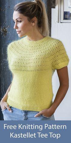 Pullover Design, Sweater Design, Mode Crochet, Knit Crochet, Sweater Knitting Patterns, Knit Patterns, Drops Patterns, Summer Knitting, Free Knitting