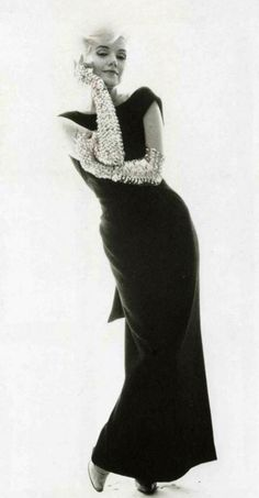 "THE LAST SITTING ""Black Dress with Glitter Gloves Session""by Bert Stern~1962"