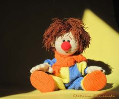 Hey, I found this really awesome Etsy listing at https://www.etsy.com/pt/listing/186394287/crochet-doll-little-clown-knitted-soft