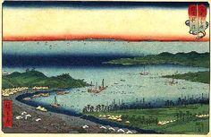 広重の浮世絵「越後新潟」山海見立相撲 - 趣味とアイデアの部屋