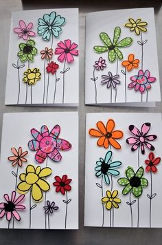Paper Scraps Flower Cards