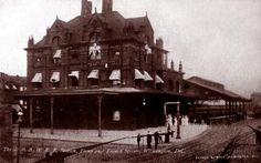 The Old P.B.W.R.R. Railroad Station, Front and French Streets, Wilmington, DE from an early 1900's postcard