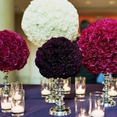 Eight great ideas for using pomanders (kissing balls) in your wedding. (image via The Knot)