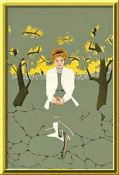 """Coles Phillips - illustration from """"The Siege of the Seven Suitors"""" by Meredith Nicholson (1910) Fadeaway girl"""