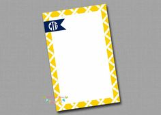 Personalized Notepads  Bamboo by PalmBeachParties