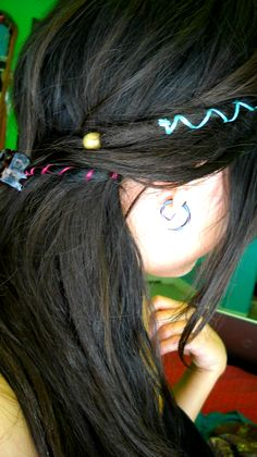 Little dreads with normal hair/ Dread wrap